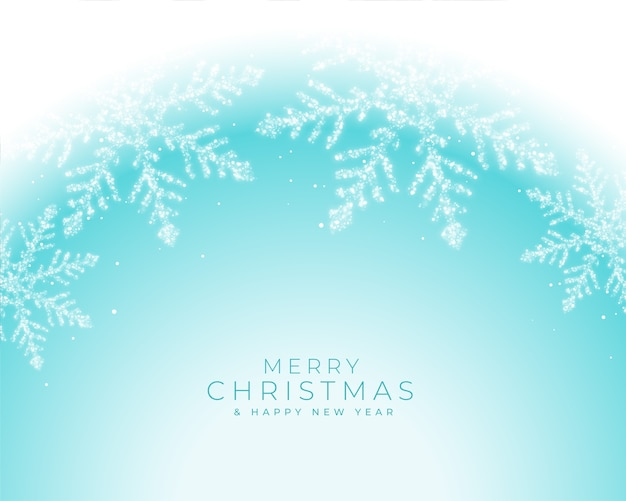 Beautiful winter frozen snowflakes christmas greeting