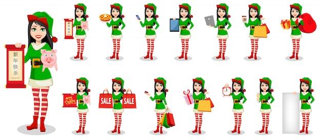 Beautiful woman in costume of elf