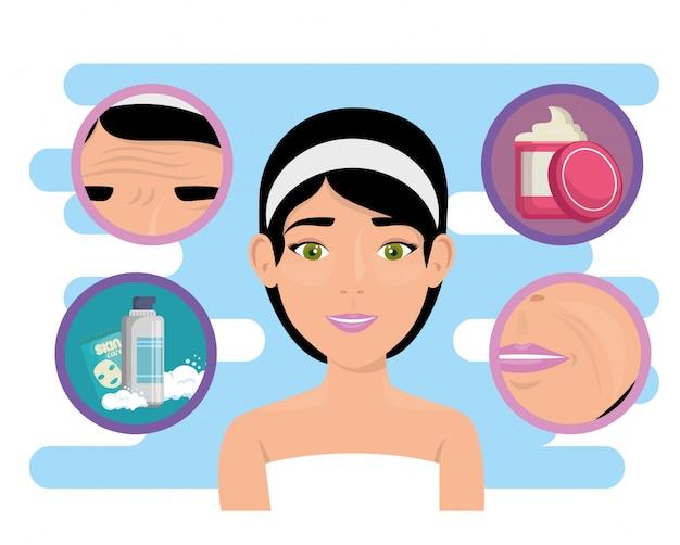 Beautiful woman in facial treatment