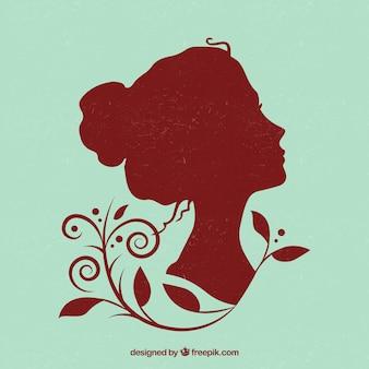 美しい女性のシルエット