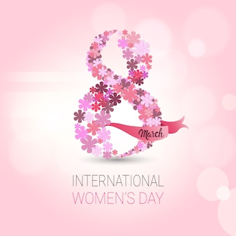 Beautiful women day background pink card spring holiday postcard or invitation design