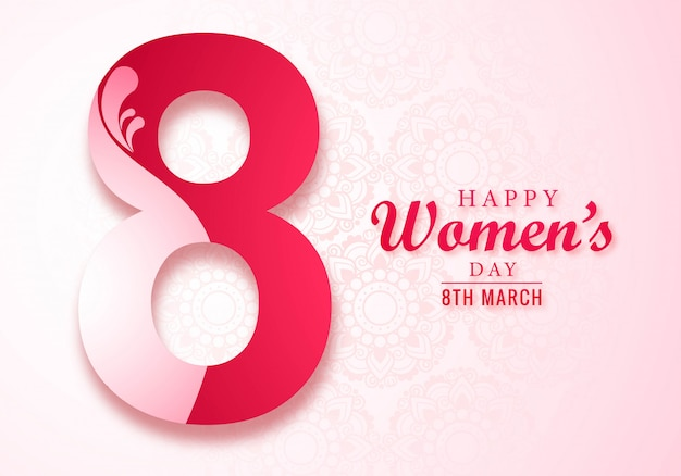 Beautiful women day card