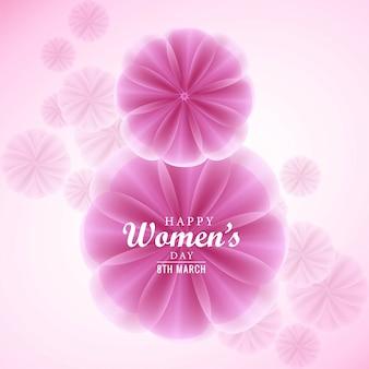 아름다운 여성의 날 카드