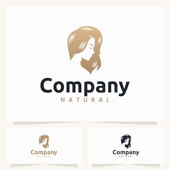 Шаблон логотипа красивых женщин