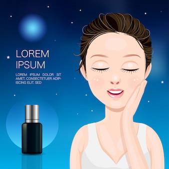 Beautiful women and night serum
