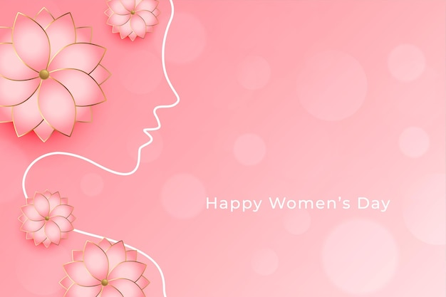 Beautiful women's day flower decorative wishes greeting card