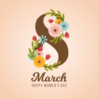 Beautiful women's day lovely flower background