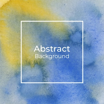 Beautiful yellow and blue watercolor background