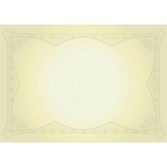 Beautiful yellow diploma