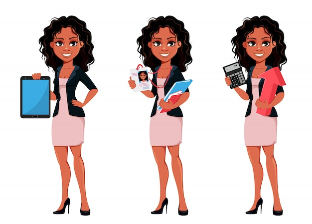 Beautiful young african american business woman