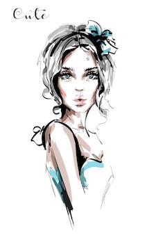 Красивая молодая девушка