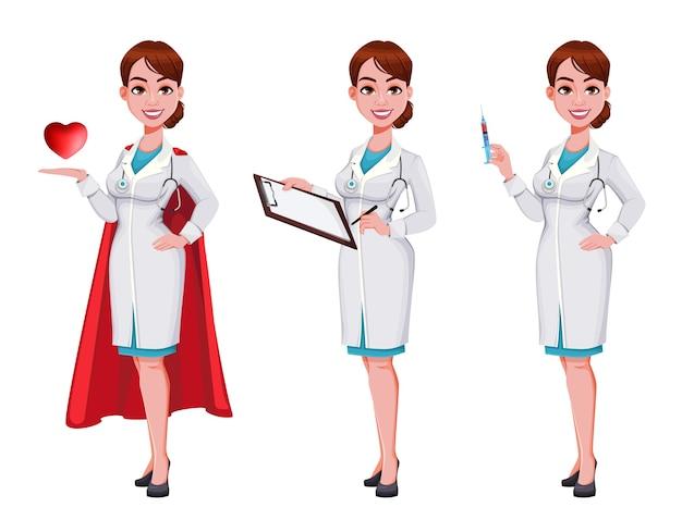 美しい若い女医