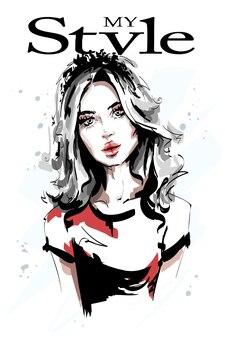 Красивый портрет молодой женщины.
