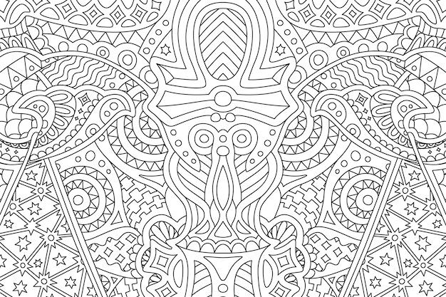 Beautiful zen art abstract linear