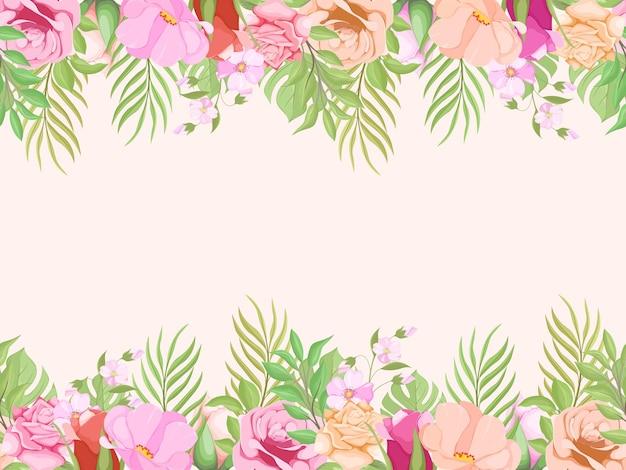 패션과 벽지에 대한 beautifull 꽃 원활한 패턴 디자인