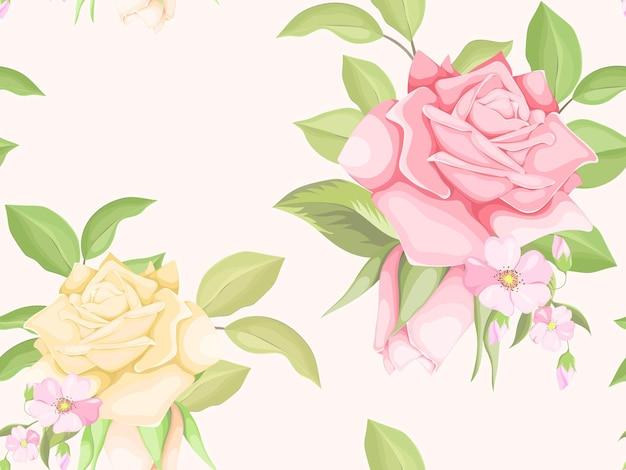 Beautifull 꽃 원활한 패턴 템플릿 디자인