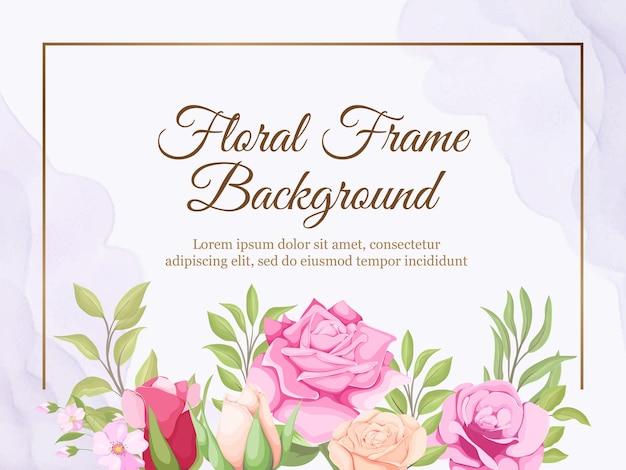 Beautifull 꽃 결혼식 배너 배경 템플릿 디자인