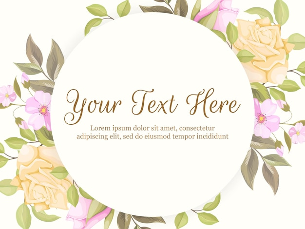 Beautifull and flourish banner background template