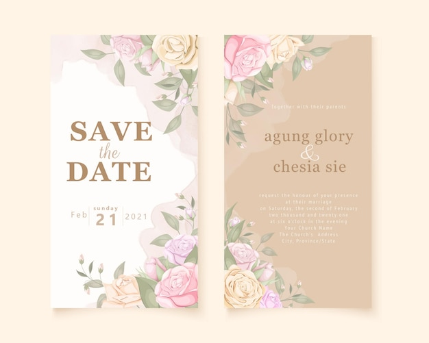 Прекрасное свадебное приглашение в социальной сети