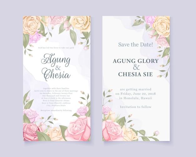 Beautifull in white color wedding invitation