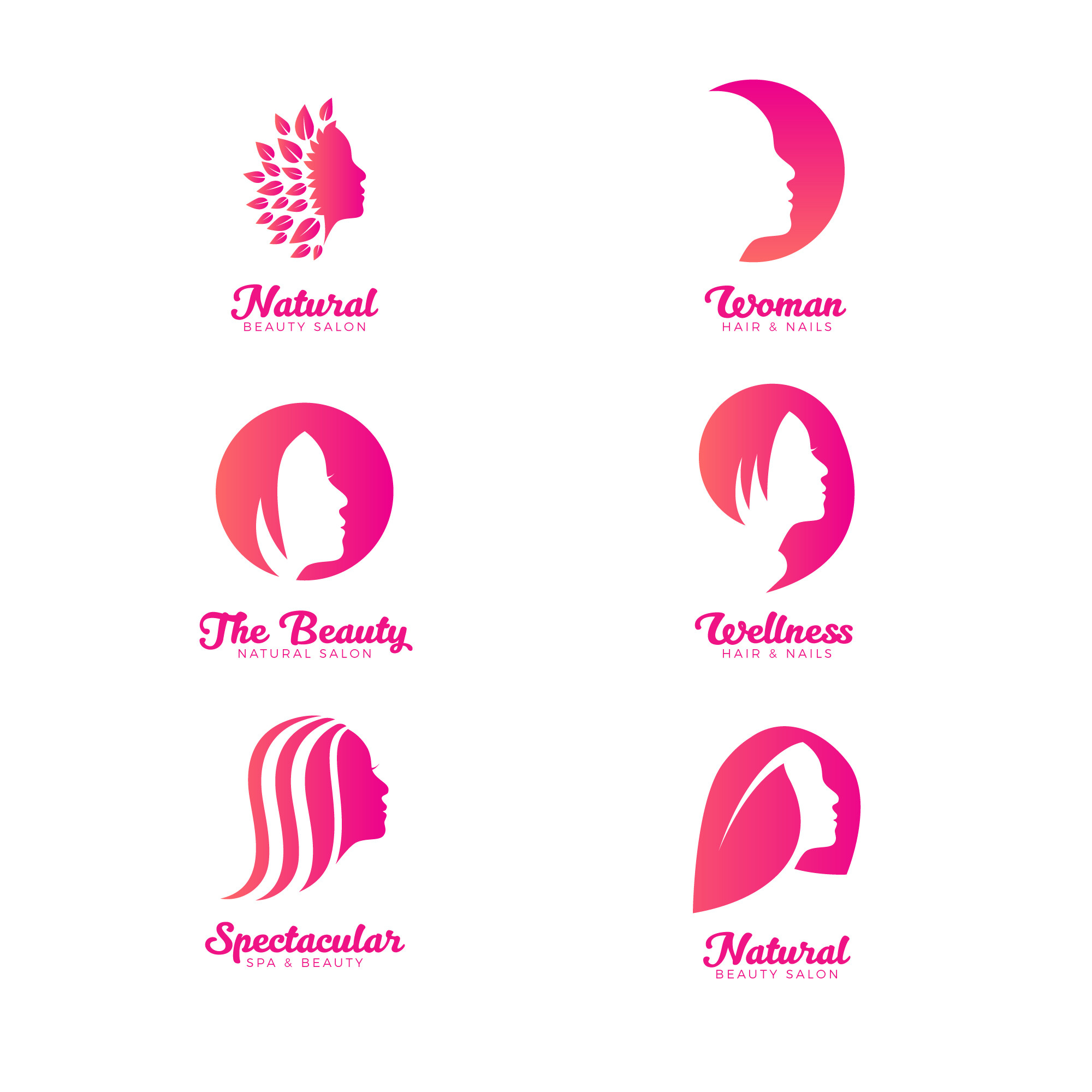 Beauty and Spa Feminine Logo Collection