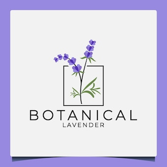 Beauty botanical lavender logo design for your business cosmetic saloon herbal perfume