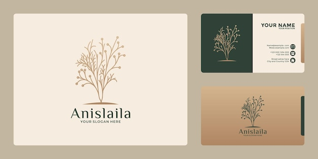 Beauty botanical logo design with golden color for your business saloon, cosmetic, health spa