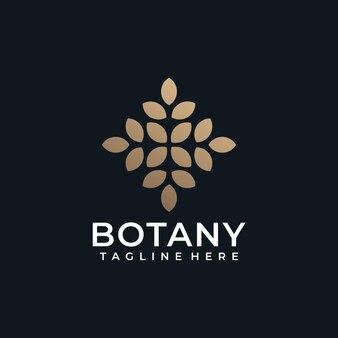 Красота ботаника цветок здоровье спа логотип символ салон натуральный