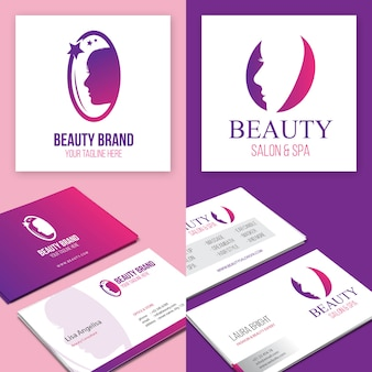Beauty brand logo and business card
