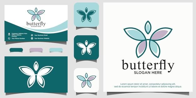 뷰티 나비 로고 디자인