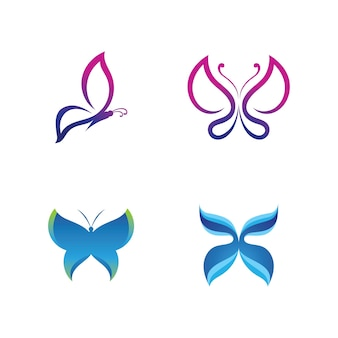 Beauty butterfly vector icon design
