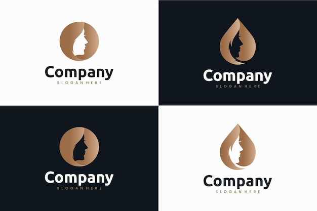 Коллекция красоты, вдохновение для дизайна логотипа