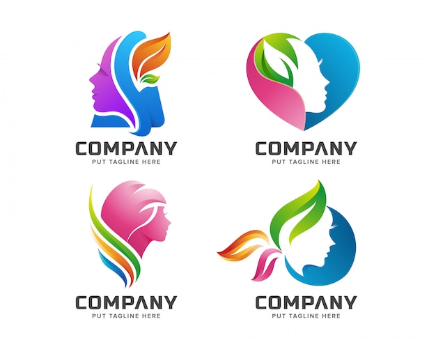 Beauty colorful feminine spa logo