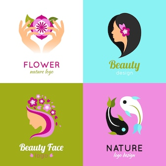 Beauty concept 4 flat square