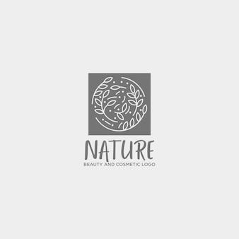 Beauty cosmetic line art logo template