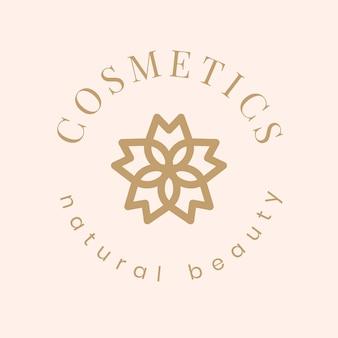 Косметический логотип красоты, современный креативный дизайн вектор