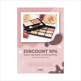 Beauty cosmetic natural make-up flyer