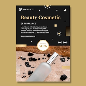 Beauty cosmetic vertical flyer template
