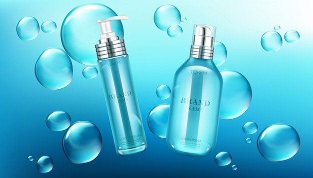 Beauty cosmetics bottles