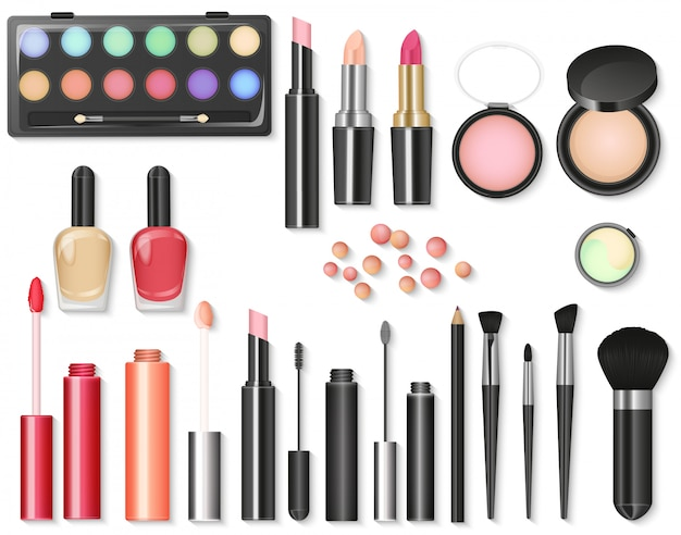 Beauty cosmetics makeup set