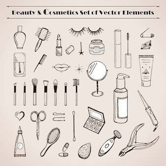 Beauty and cosmetics set