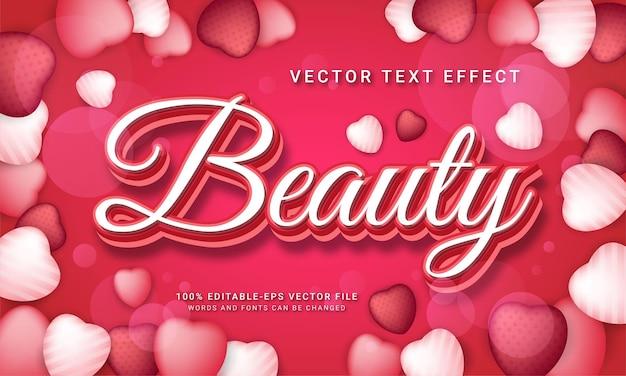 Редактируемый текстовый эффект красоты с модной темой