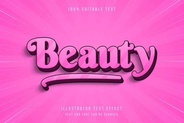 ピンクのグラデーションで美しさ編集可能なテキスト効果