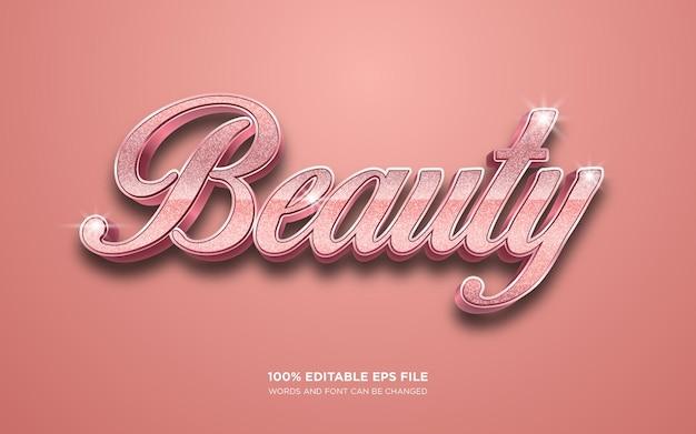 美しさ編集可能なテキストスタイル効果