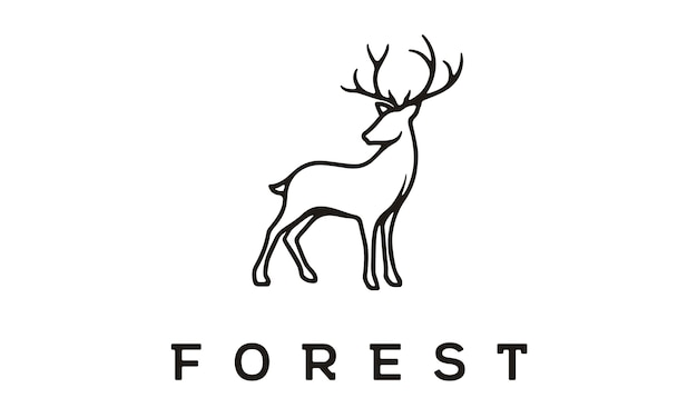 Beauty elegant deer logo design