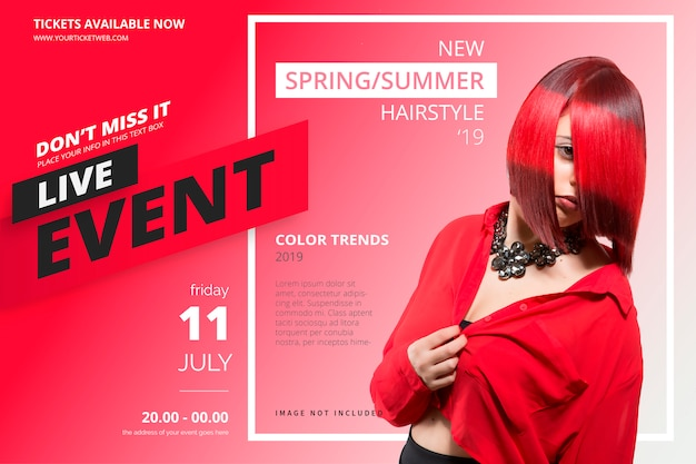 Beauty event poster template