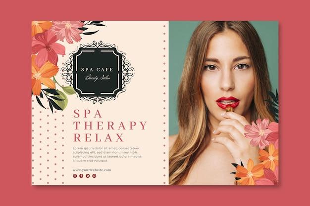 Beauty fashion salon banner template