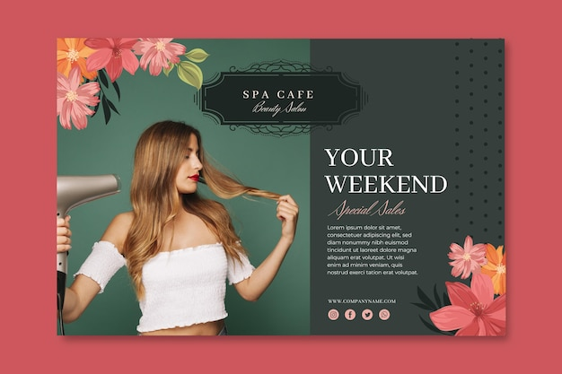 Beauty fashion salon banner template