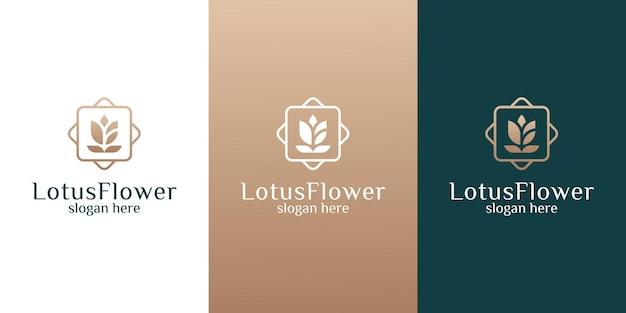 Шаблон логотипа женского цветка лотоса красоты для спа-салона красоты, сообщения, медитации и т. д.
