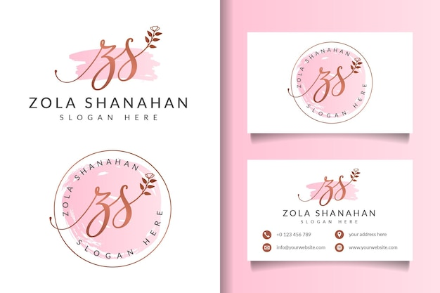 Beauty feminine logo collections with business card template
